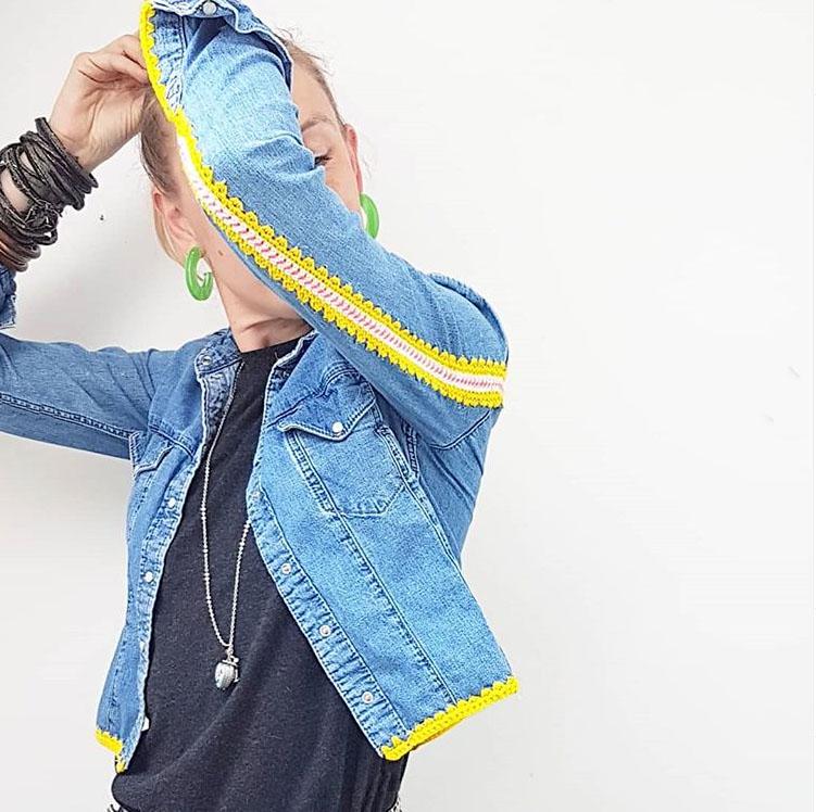 Джинсовая куртка своими руками