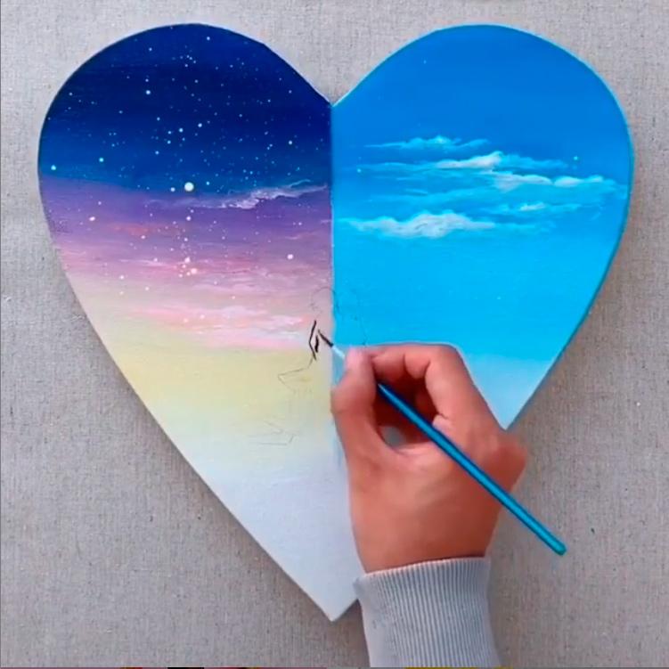 Картина; Влюбленные; на День святого Валентина