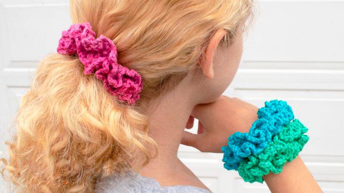 3 варианта вязания резинок для волос