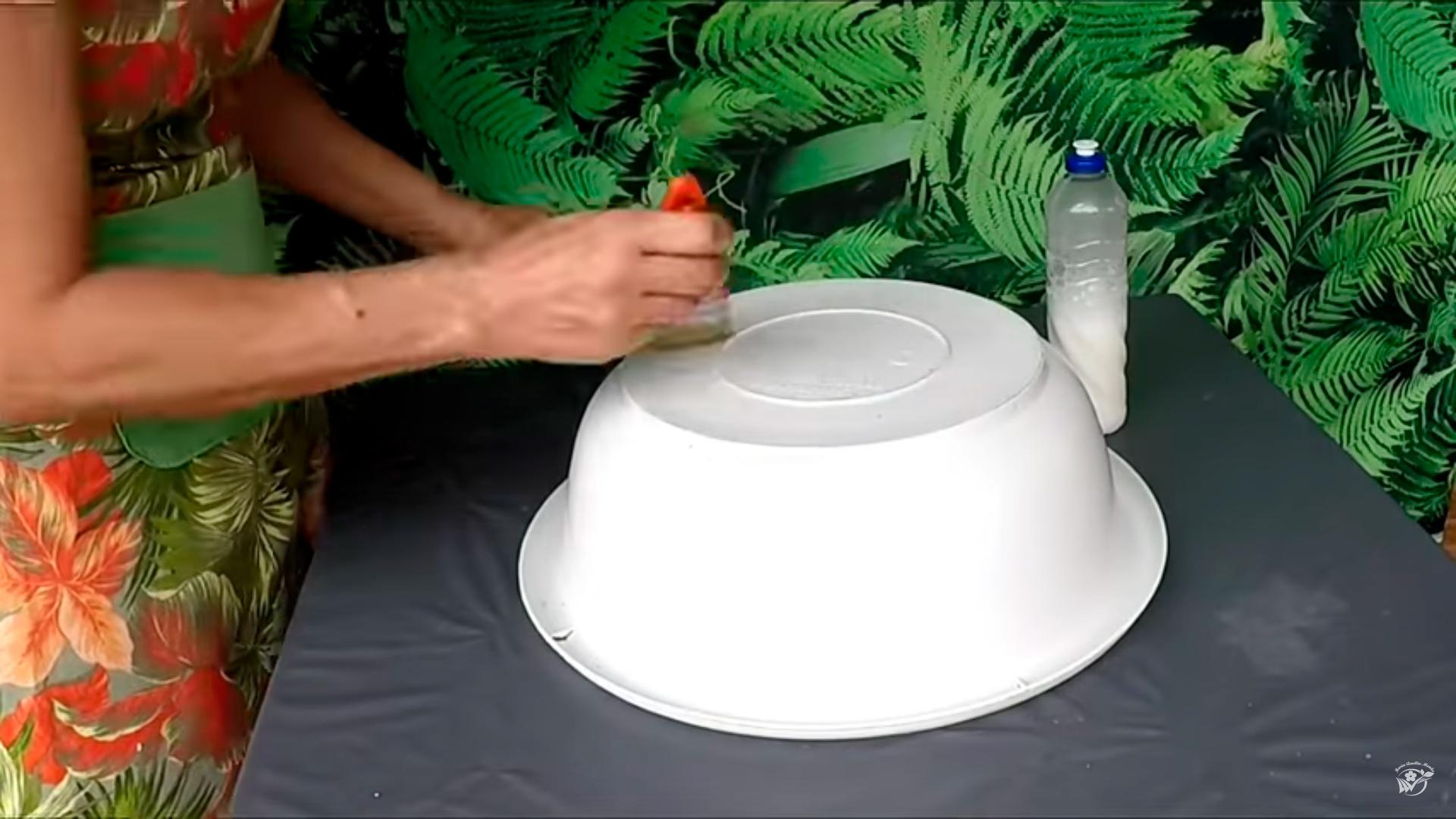 Как сделать вазу из цемента и пенопласта