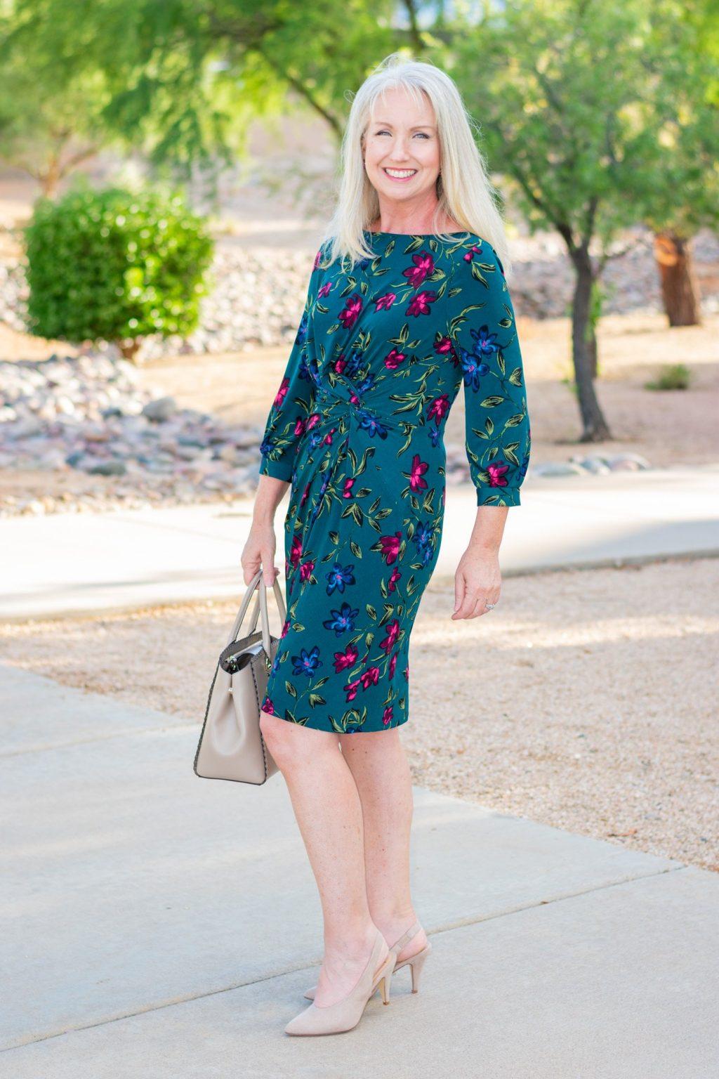 Платье с цветочным принтом для любого случая