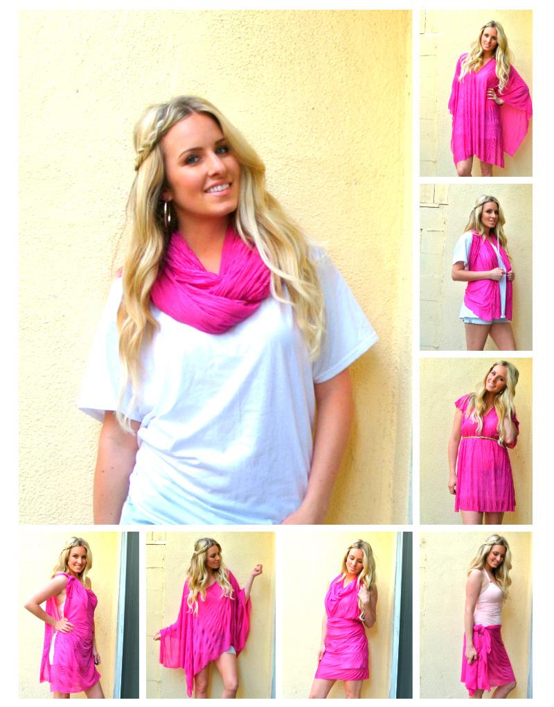 8 предметов одежды из одного шарфа