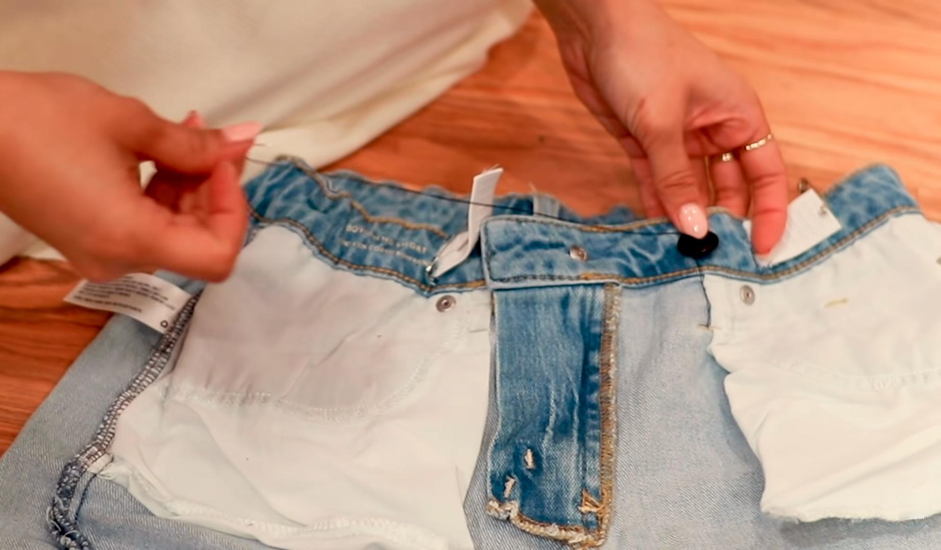 Как заузить джинсы в талии вручную без машинки