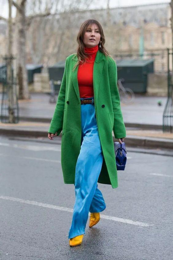 Цветовые блоки в одежде