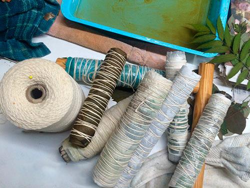 Как сделать потрясающие эко-рисунки на шарфе