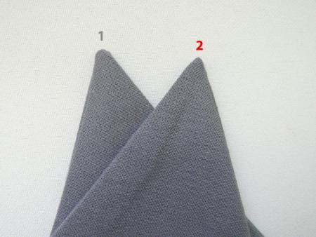 Идеальные уголки на ткани