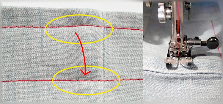 Как прошить толстый шов на швейной машинке
