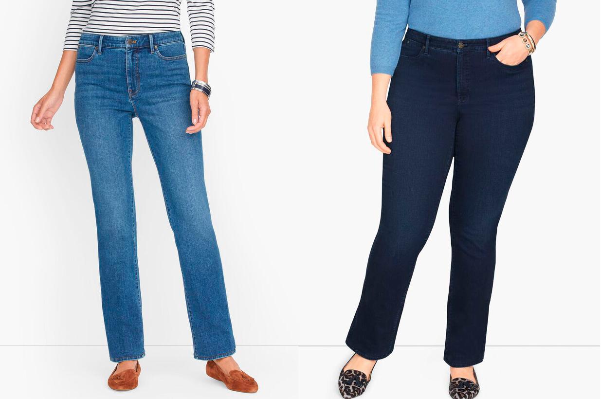 Облегающие джинсы с прямыми штанинами